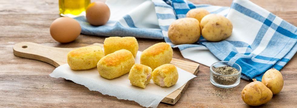 Polpette di patate con cuore di Galbacotto e Bel Paese