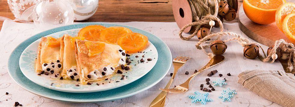 Crêpes dolci con Mascarpone e arance