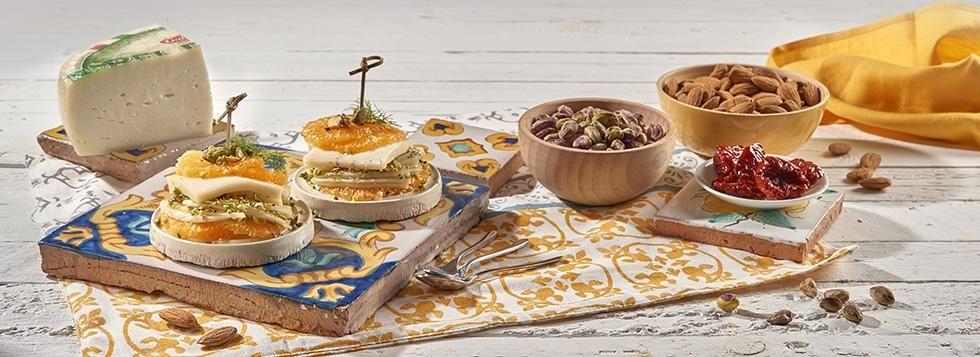 Millefoglie di Arancia, Finocchi, pistacchi e Bel Paese