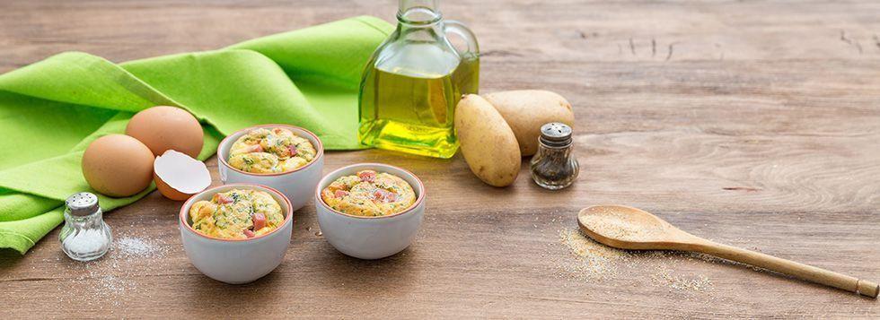 Soufflé di patate e spinaci