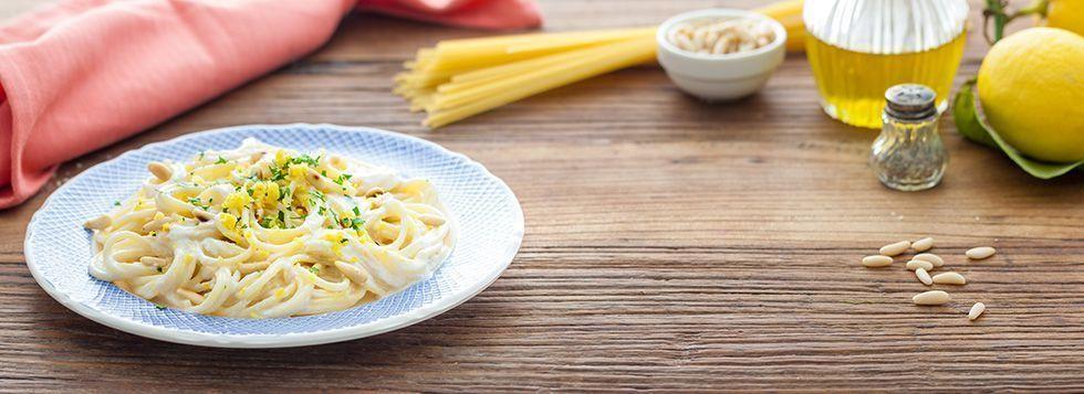 Spaghetti al limone e ricotta