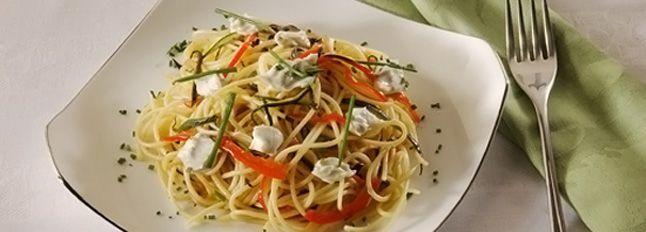 Spaghetti tiepidi alle verdure