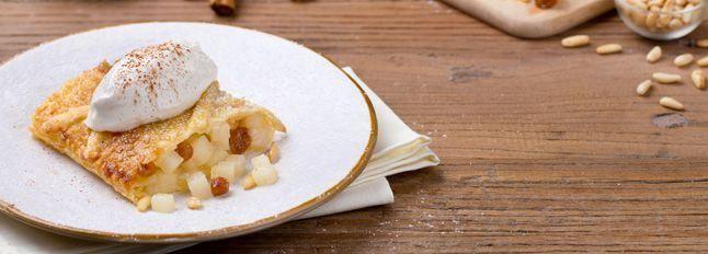 Strudel di pere con gelato di Crema alla Ricotta