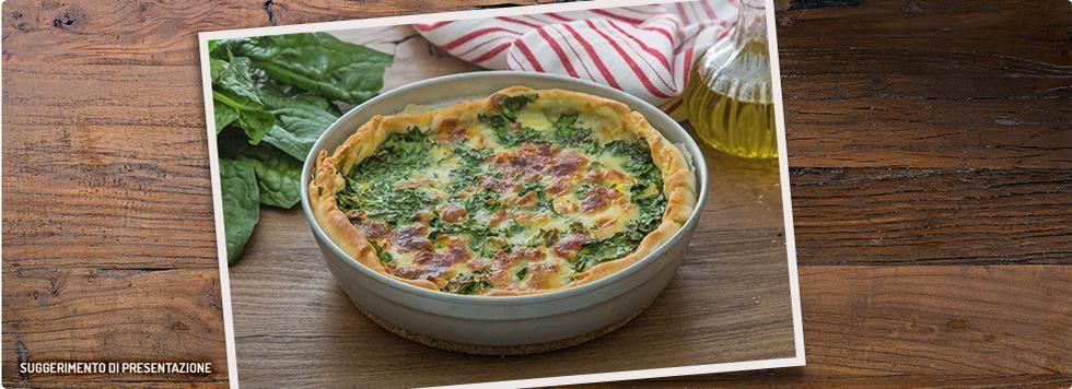 Torta di spinaci e mozzarella