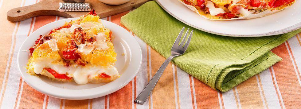 Sformato di patate, Fette alla Mozzarella e peperoni