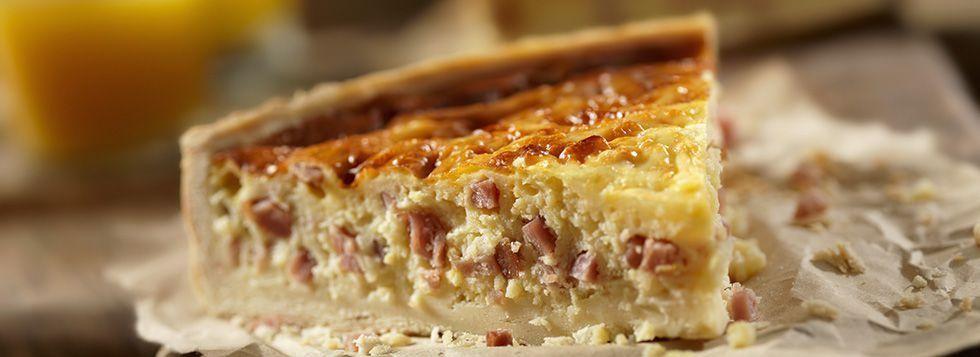 Torta salata con prosciutto