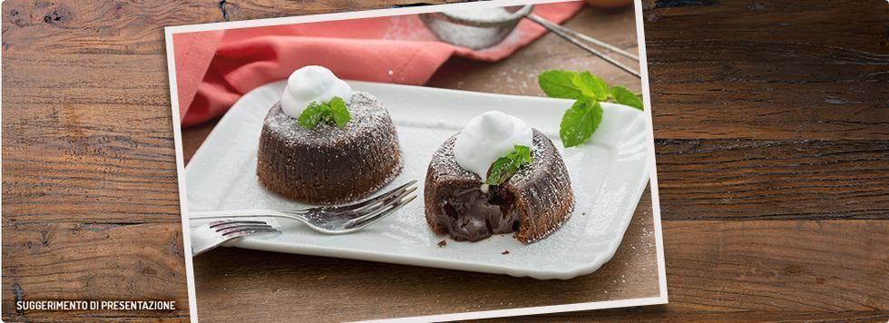 Tortino con cuore caldo al cioccolato