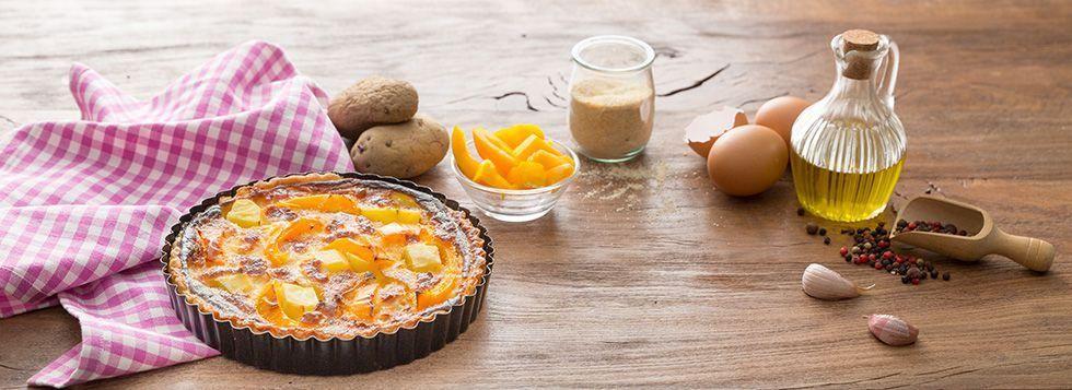 Torta salata con peperoni e patate